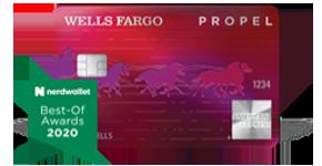 Obtenga más información sobre la Tarjeta Wells Fargo Propel American Express, ganadora del premio NerdWallet Best-Of Awards de 2020.