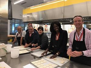 Team building activity at Culinary Institute of America at Copia, Napa, CA