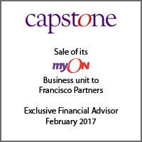 Exclusive Financial Advisor for Capstone on the sale of its myON Business Unit to Francisco Partners