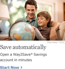 Save automatically. Open a Way2Save Savings account in minutes. Start now.