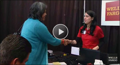 Video: Gracie, a Wells Fargo Home Mortgage team member, helps customers at a Wells Fargo Home Preservation Workshop.