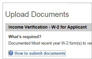 Upload required documents