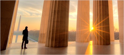 Sunset and columns