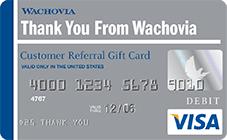 Wachovia Visa Gift Card – Wells Fargo