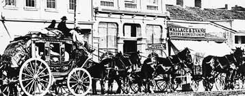 The Wells Fargo stagecoach