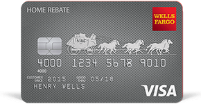 Wells Fargo Home Rebate Visa Card details