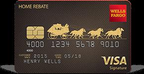Wells Fargo Home Rebate Visa Signature Card details