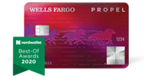 Learn more about the Wells Fargo Propel American Express Card, winner of NerdWallet's Best-Of Awards, 2020.