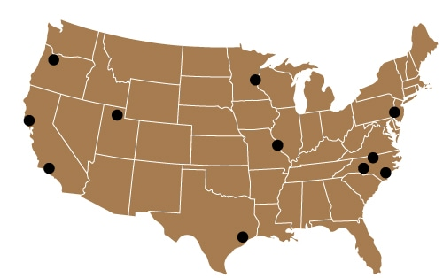 National locations of Business Advisory Services offices