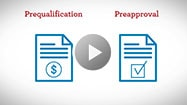 Video: Prequalification versus preapproval